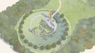 Artist impression of the national police memorial