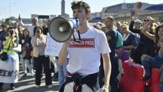 Protest in Genoa