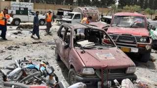 Site of suicide bomb blast in Quetta