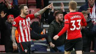 Danny Ings celebrates second goal