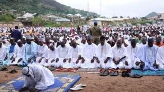 Muslim faithful for Kogi state dey pray