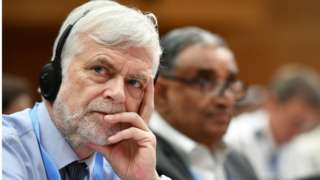 Jim Skea - Intergovernmental Panel on Climate Change (IPCC) British delegate Jim Skea looks on as he attends the opening meeting of the 50th session of the United Nations body for assessing the science related to climate change, on August 2, 2019 i