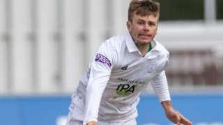 Hampshire spinner Mason Crane took 3-27 in the Leicestershire first innings and has far taken 3-101 in the second