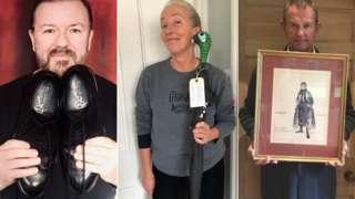 Ricky Gervais, Emma Thompson and Hugh Bonneville