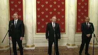 Moskva, Putin, İlham Əliyev, Nikol Paşinyan