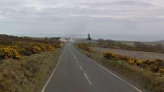 Mountain Road leading to the Creg ny Baa