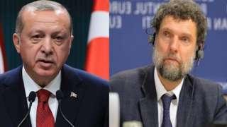Madaxweyne Erdogan (bidix) iyo Osman Kavala