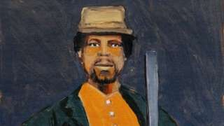 Una pintura en honor a Mundrucu realizada en 2020 por el artista Moisés Patrício para el libro Enciclopedia Negra