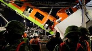 지난달 3일 밤 멕시코시티에서 고가철도가 무너져 그 위를 지나던 지하철12호선 객차 2량이 아래 도로로 추락했다