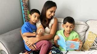 Manisha Varsani with her sons