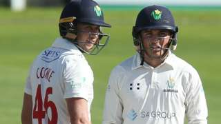 Glamorgan batsmen Chris Cooke and Kiran Carlson