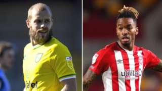 Two of the Championship's top three strikers, 18-goal Teemu Pukki and 25-goal Ivan Toney, will be in opposite sides at Carrow Road