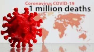Foto of coronavirus and di numbe rof deaths