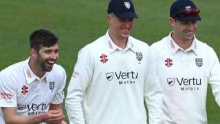 Durham celebrate against Warwickshire