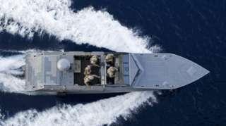 A Navy boat