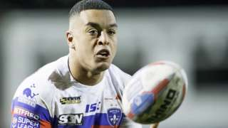 Reece Lyne in action for Wakefield