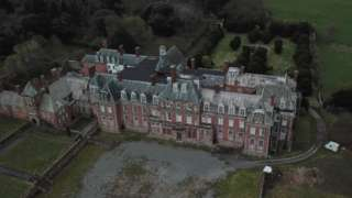 Drone shot of Kinmel Hall