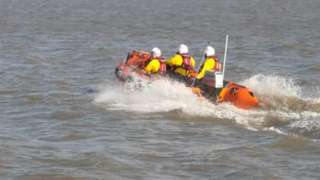 A three man lifeboat team were called to rescue a man from Sully Island on Wednesday