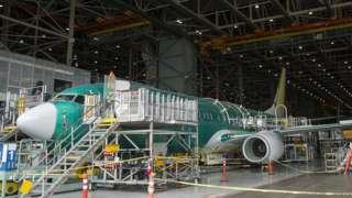 Boeing plane at Factory