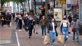 Shoppers in Birmingham