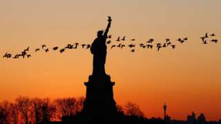 The Statue of Liberty has long served as a symbol of US immigration