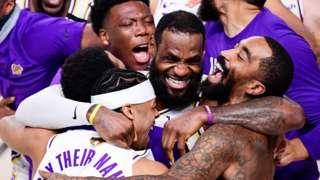 Lakers win NBA