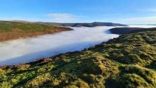 Fog from Mynydd Llangorse