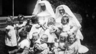 Nuns and children at Bessborough House in Cork (image courtesy of Mari Steed)