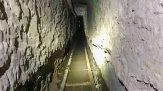 """The """"Baja Metro Tunnel"""", which US Customs and Border Protection (CBP) says is the longest illicit cross-border tunnel ever discovered"""