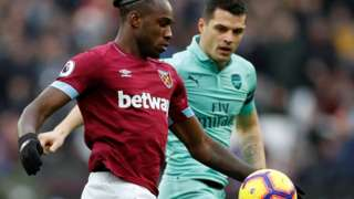 Michail Antonio and Granit Xhaka