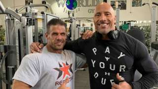 Craie Carrera with Dwayne 'The Rock' Johnson