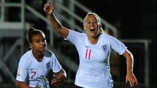 England goalscorers Nikita Parris and Toni Duggan