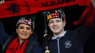 Scotland and Albania fans