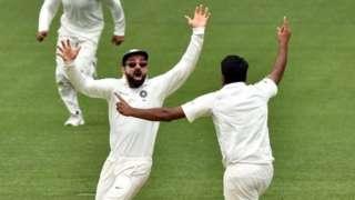 Kohli celebrating