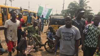 Physically challenged protest