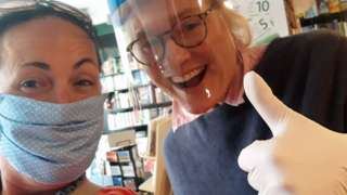 Sue Porter and colleague in Linghams, Heswall