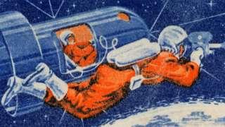 Ilustração de cosmonauta no espaço