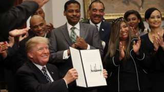 President Trump with African American representatives