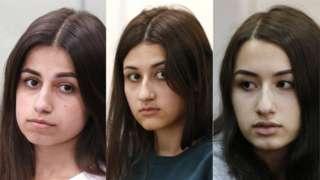 Igihe bica se wabo, Angelina (ibubamfu) yari afise imyaka 18, Maria (hagati) yari afise 17, Krestina (iburyo) nawe 19