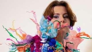 Plastic rubbish dress