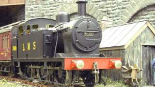 The Helmthwaite model trashed by vandals