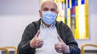 Jos Hermans, a 96-year-old from the municipality of Puurs, was given the injection on 28 December