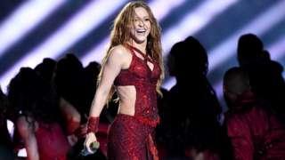 Shakira performing at last year's superbowl.