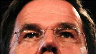 Mr Rutte's eyes, extreme close-up.