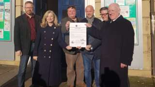 Candidates sign the pledge in Batley