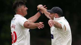 Marchant de Lange and Graham Wagg celebrate