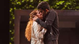 The production stars Bally Gill as Romeo and Karen Fishwick as Juliet