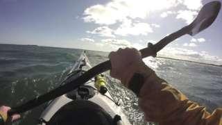 Toby Carr kayaking