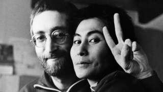 John Lennon and Yoko Ono in Denmark