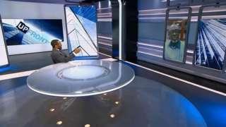 Minisitiri w'ubutabera w'u Rwanda Johnston Busingye (iburyo) mu kiganiro UpFront cya Al Jazeera